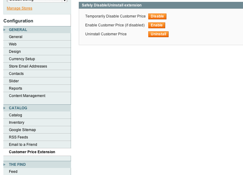 Magento Customer Group Price Extension - Settings