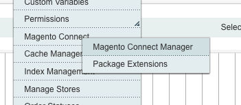Magento Connect Manager